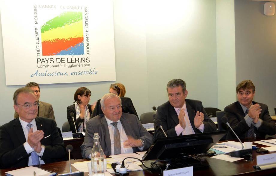 Bernard Brochand a été élu à la tête de la communauté d'agglomération des Pays de Lérins.