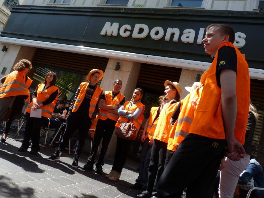 Les salariés de McDo ont débrayé à Nice.