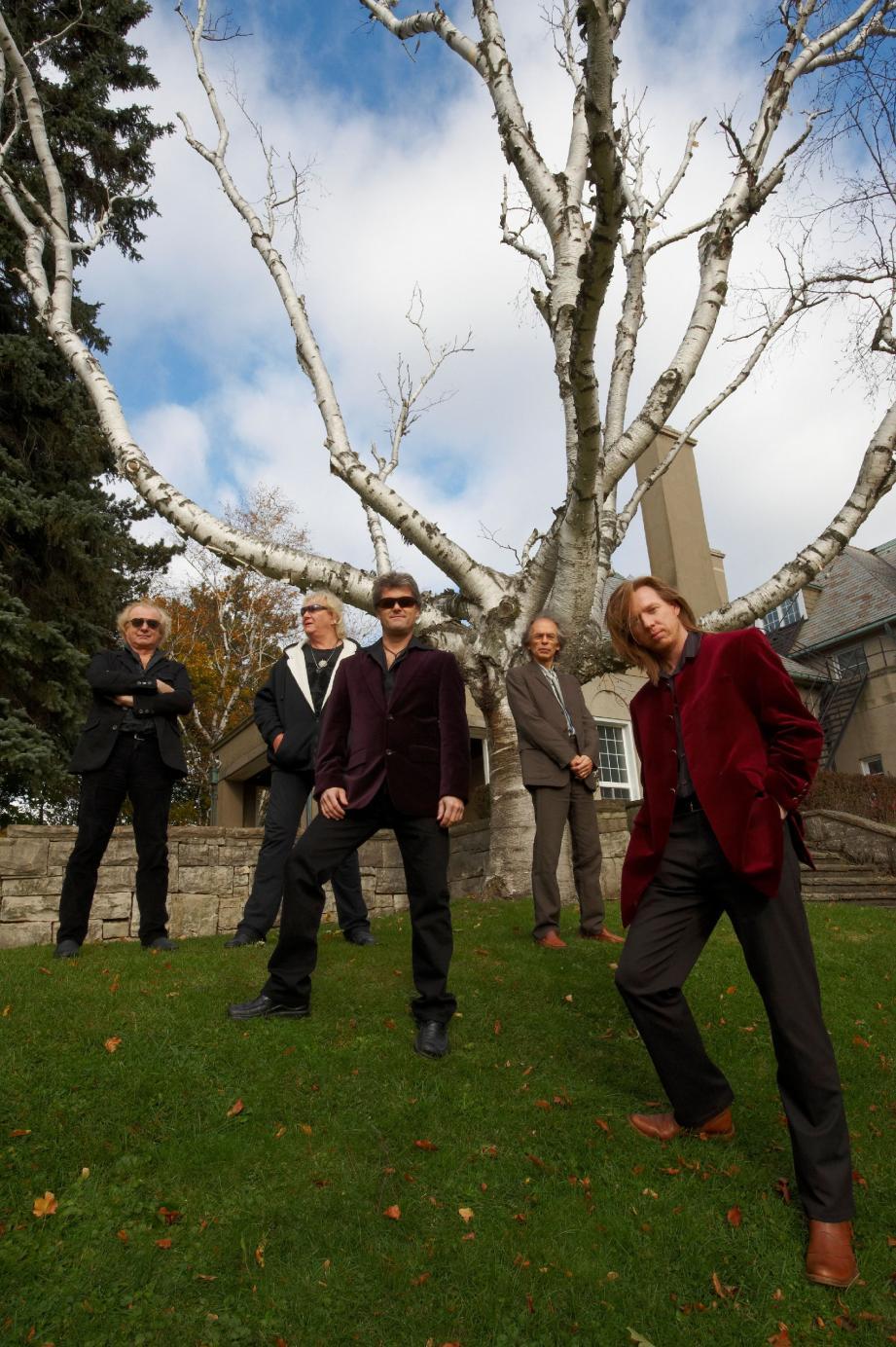 Steve Howe, Alan White, Jon Anderson, Chris Squire et Rick Wakeman du groupe Yes.