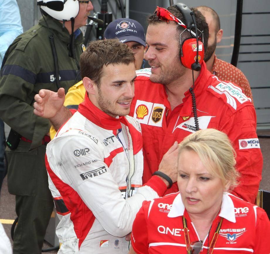 Félicité par le staff Ferrari, Jules Bianchi a particulièrement apprécié un tweet flatteur de Fernando Alonso, saluant sa performance après l'arrivée.