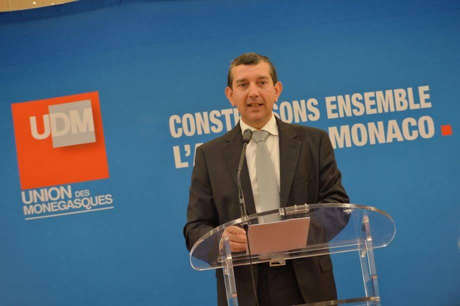 Jean-François Robillon vient de succéder à Gérard Bertrand à la présidence de l'Union des Monégasques.