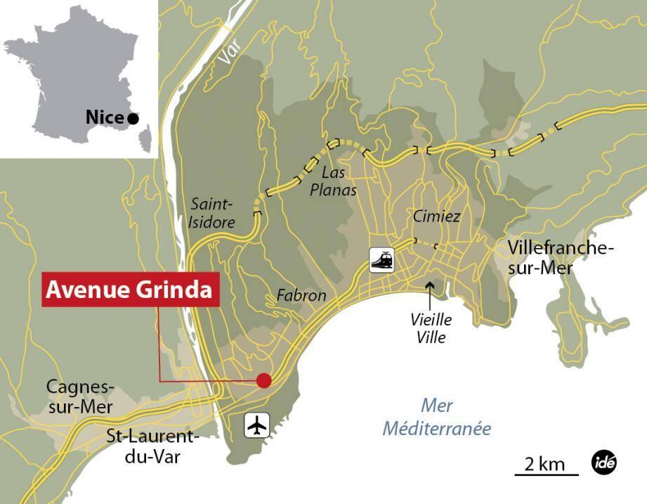 Avenue Grinda à Nice.