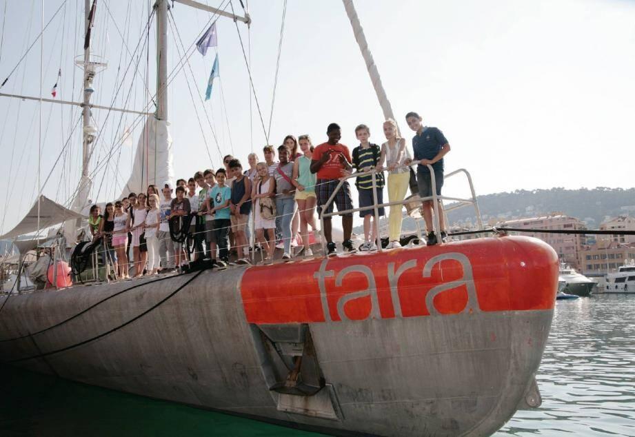 La goélette Tara est dans le port de Nice jusqu'à demain vendredi.