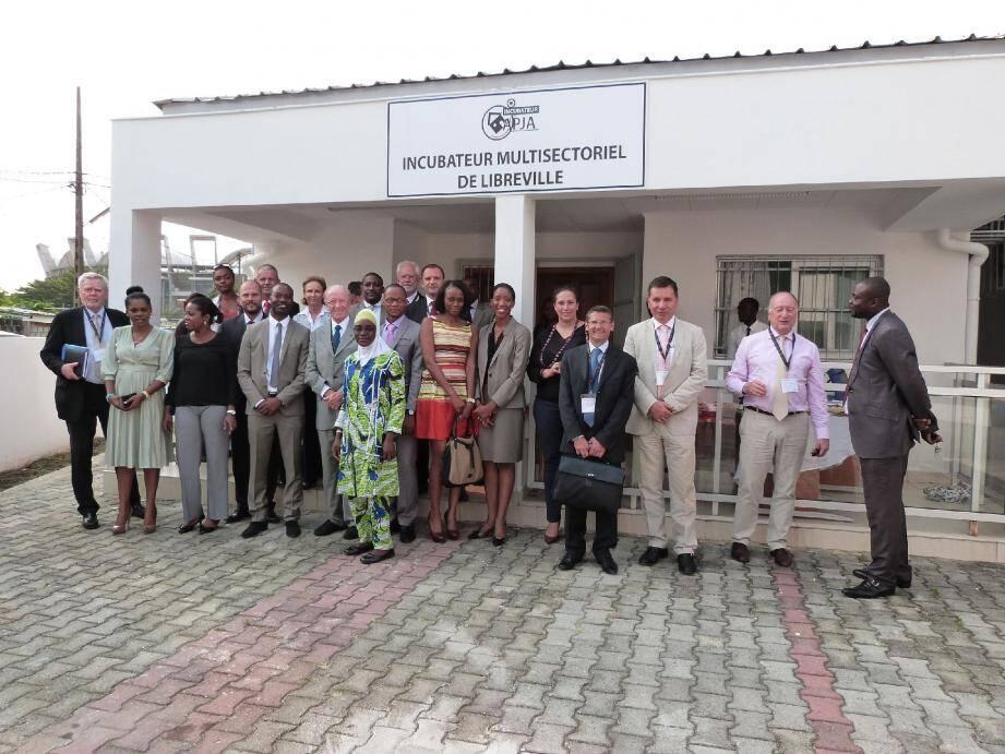 La délégation monégasque a découvert l'incubateur d'entreprises de l'association APJA (Agir pour une jeunesse autonome).