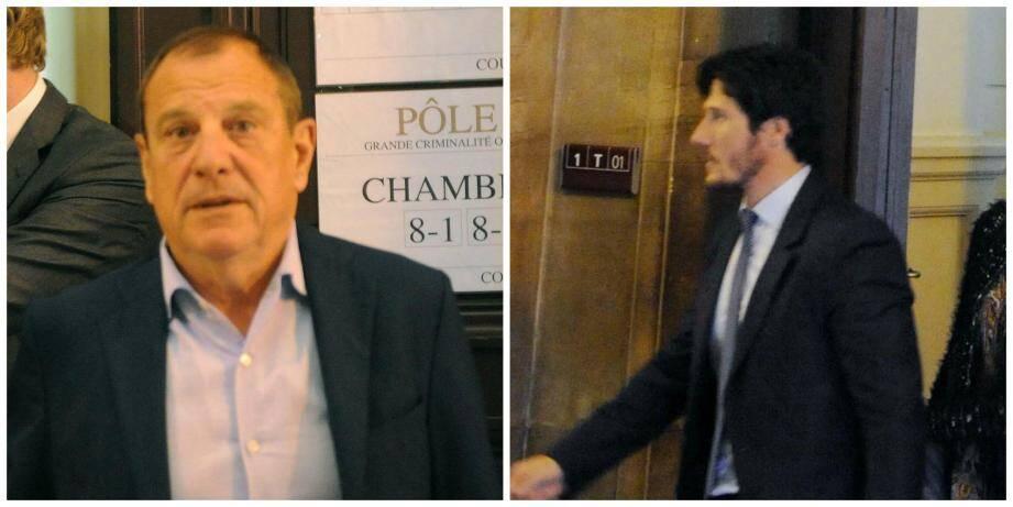 Me Seatelli (à gauche)  et Me Paul Sollacaro (à droite), conseil d'Antoine Quilichini