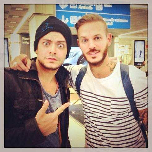 Quand l'acteur et humoriste Kev Adams rencontre Matt Pokora à l'aéroport de Nice… Hop, sur Instagram.