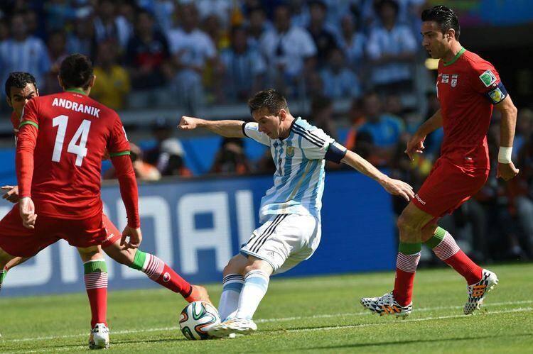 messi argentine iran coupe du monde mondial 2014 140621