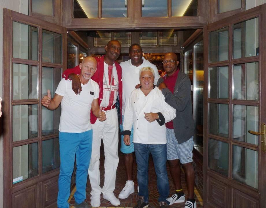 Magic Johnson, Lee Johnson, Samuel L. Jackson et Claudio Taffarel se retrouvent à Antibes