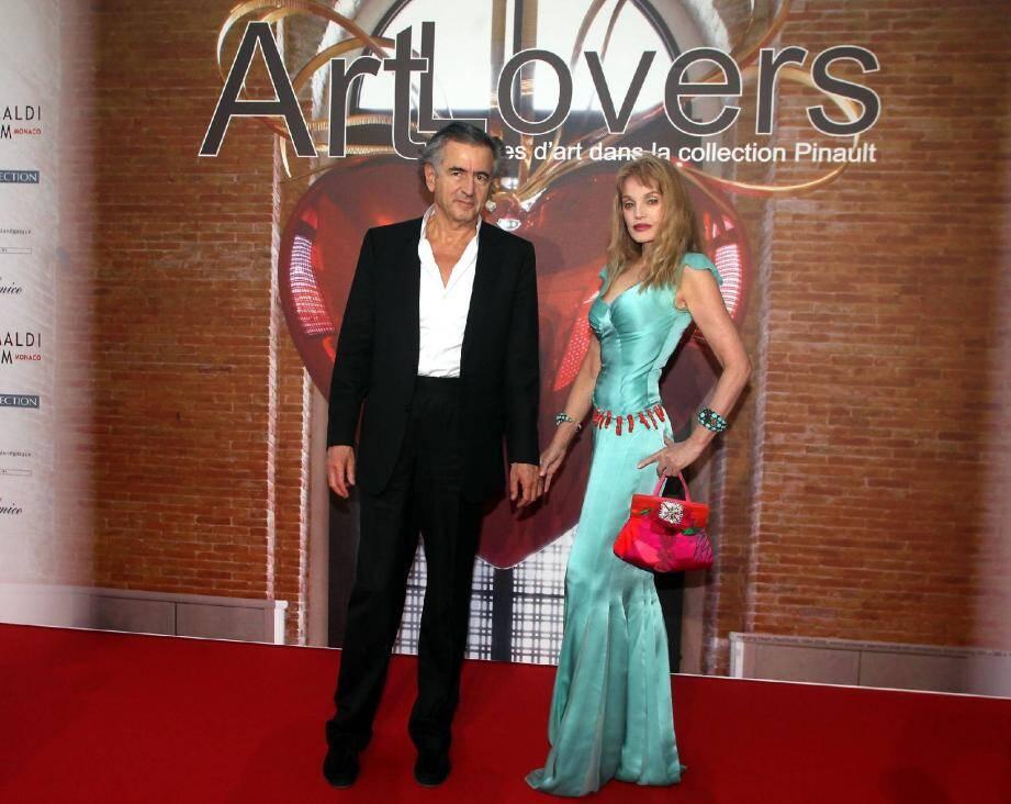Bernard-Henri Levy et Arielle Domsbale au Monte-Carlo Beach hotel.