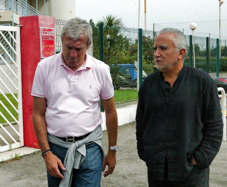 C'était en 2006. À l'époque, Luis Fernandez et Jean-Claude Lahiner avaient pour objectif de faire remonter l'AS Cannes en Ligue 2. Aujourd'hui, les deux hommes règlent leurs comptes.