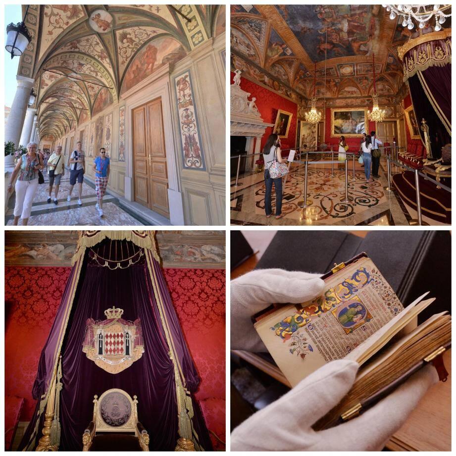 La bibliothèque récemment rénovée, la salle du Trône,... Visite guidée dans l'antre du Palais princier à Monaco
