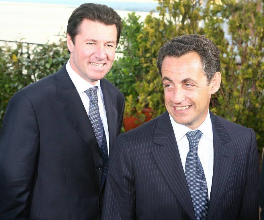 Christian Estrosi et Nicolas Sarkozy