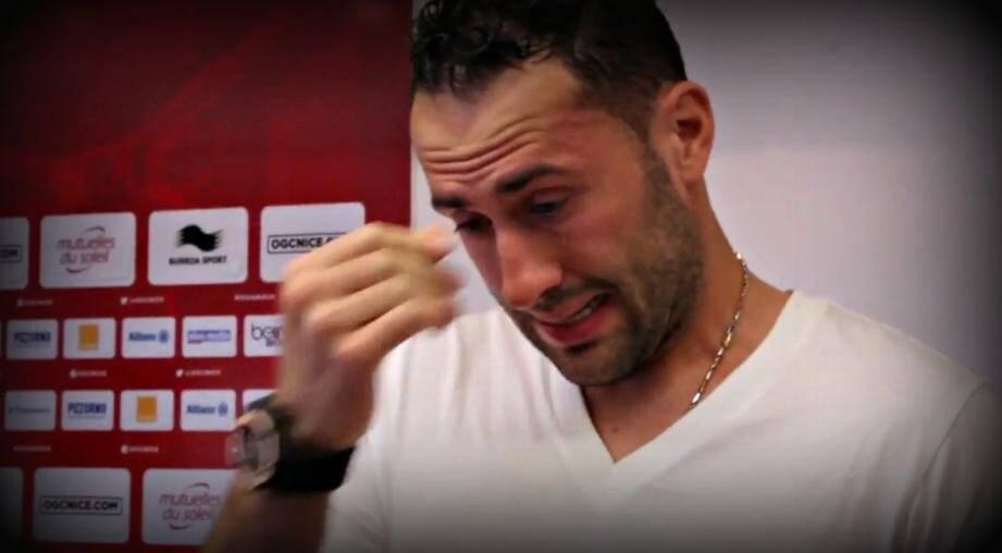 larmes ospina au moment des adieux ogc nice video 140727