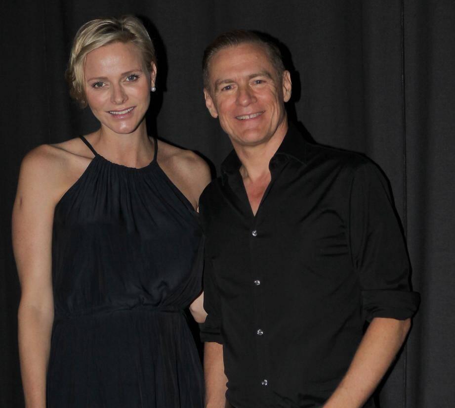 La princesse Charlène a été charmée par le concert de Bryan Adams au Sporting de Monaco