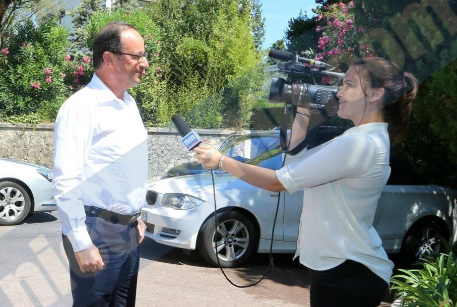François Hollande est venu rendre visite à son père mercredi après-midi à Cannes