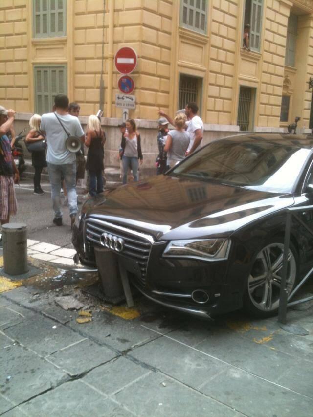 Audi dans le décor pour le tournage du transporteur 4
