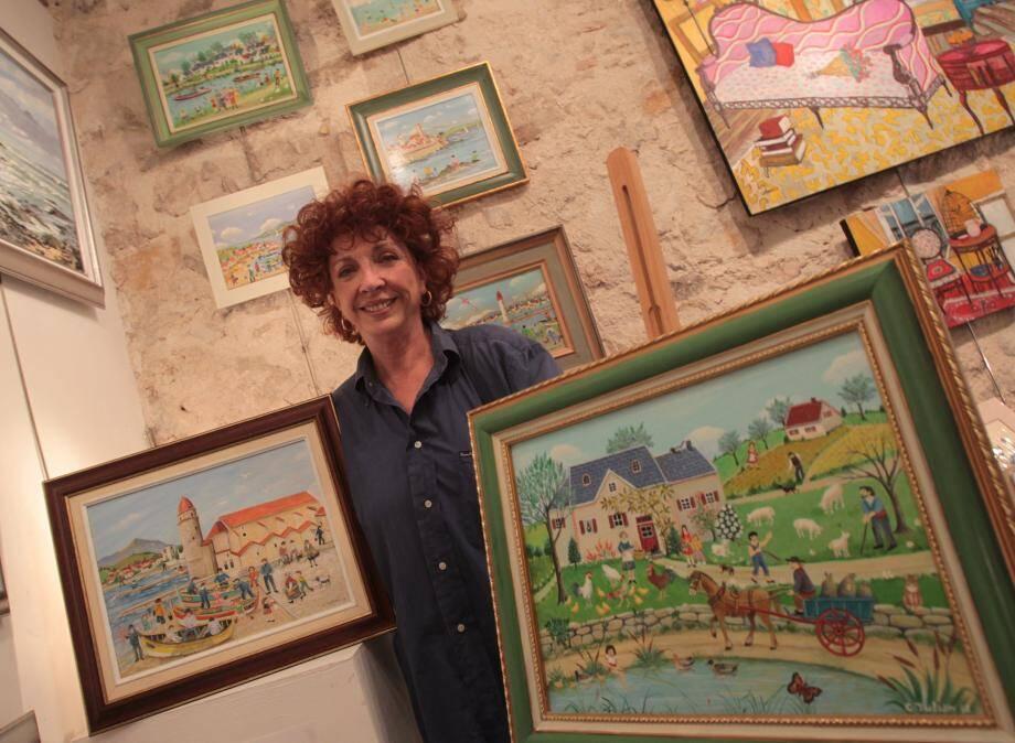 Charlotte Julian a plus d'une corde à son arc. Chanteuse, comédienne, elle cultive aussi l'art naïf. Elle expose tout l'été à la galerie Élégance, au cœur du vieux village de Mougins.