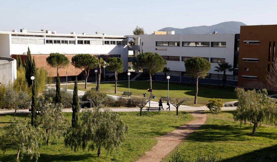 L'université de Toulon.