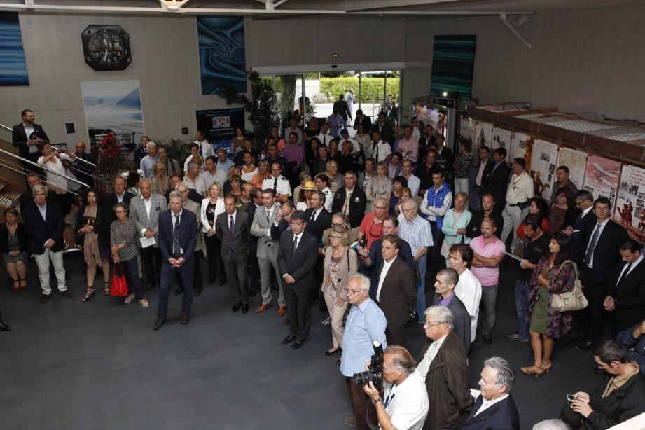 L'anniversaire a été fêté en présence, entre autres, du président du directoire Aéroports de la Côte d'Azur, de Pierre Fourques, directeur, en poste à La Mole, et de François d'Agay président de la succession Antoine de Saint-Exupéry et des élus du golfe.