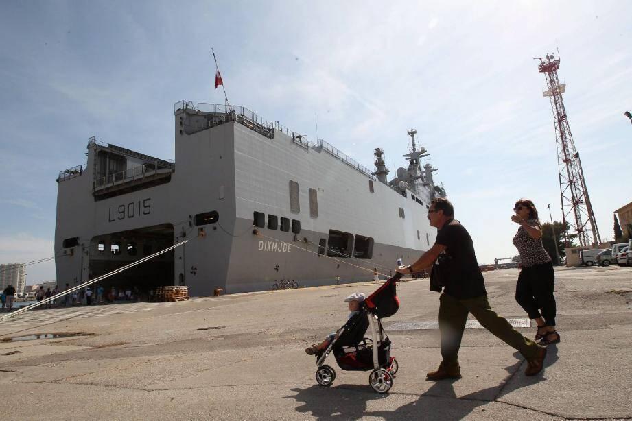 Le Dixmude fait partie des deux bâtiments accessibles exceptionnellement au public. Mais la visite de la base navale ne se limite pas aux navires...
