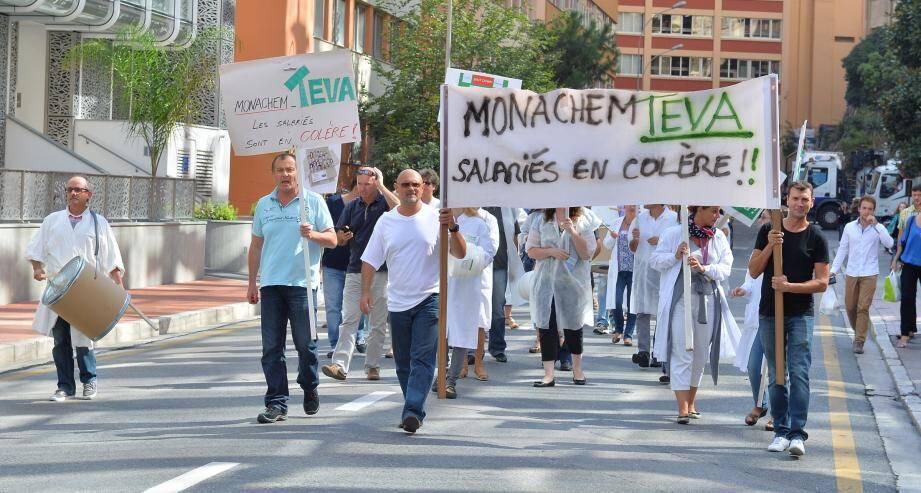 Ils ont manifesté aujourd'hui à 12h30 à Fontvieille