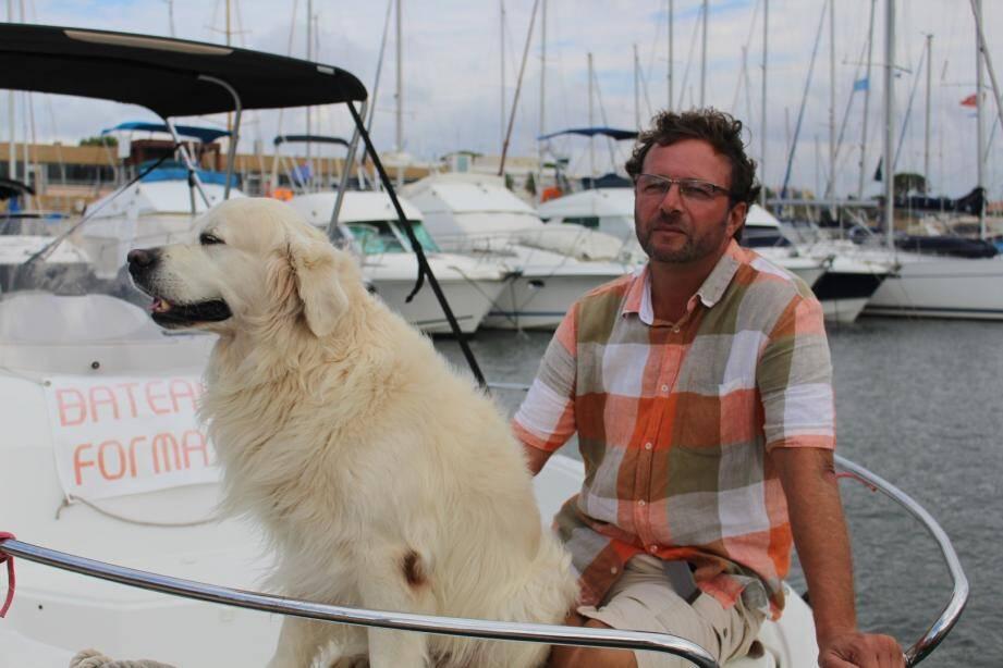 Matlo et Pierre au port d'Hyères.