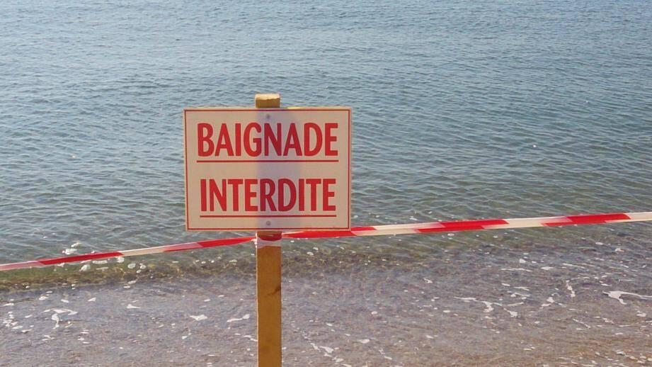 baignade interdite plages frejus 140901