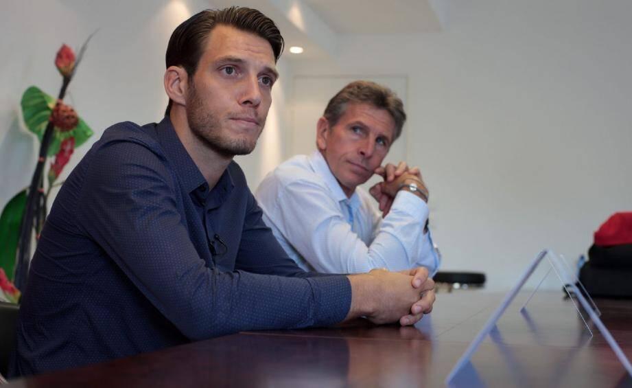 Simon Pouplin, sous l'œil de son nouveau coach.