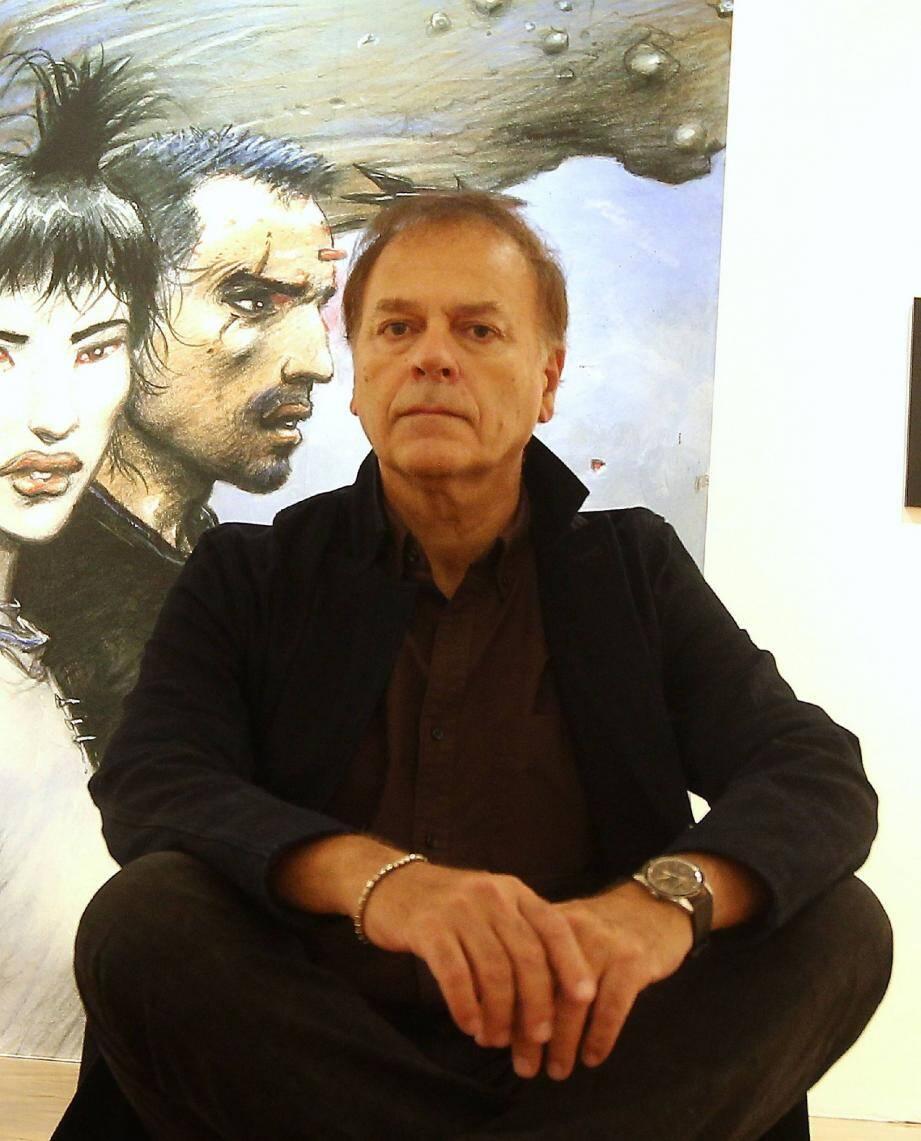 Enki Bilal a découvert la rétrospective qui lui est consacrée à Toulon.