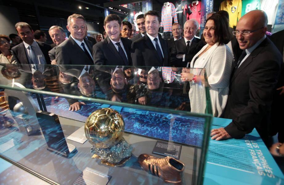 Thierry Braillard, Patrick Kanner et Christian Estrosi, lors de l'inauguration du Musée national du sport.