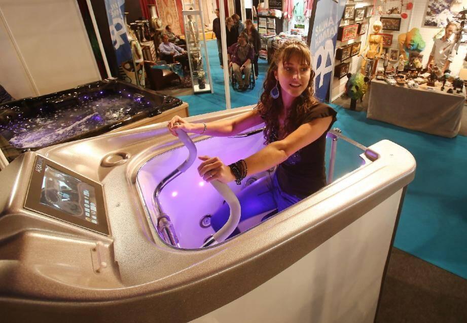 L'AquaSlim, un water bike à domicile dernier cri.