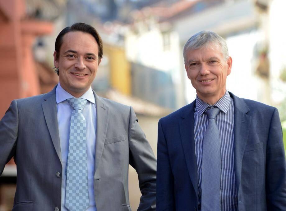 Thomas Onzon (à gauche) et Thierry Migoule, respectivement directeur général des services techniques et directeur général des services.