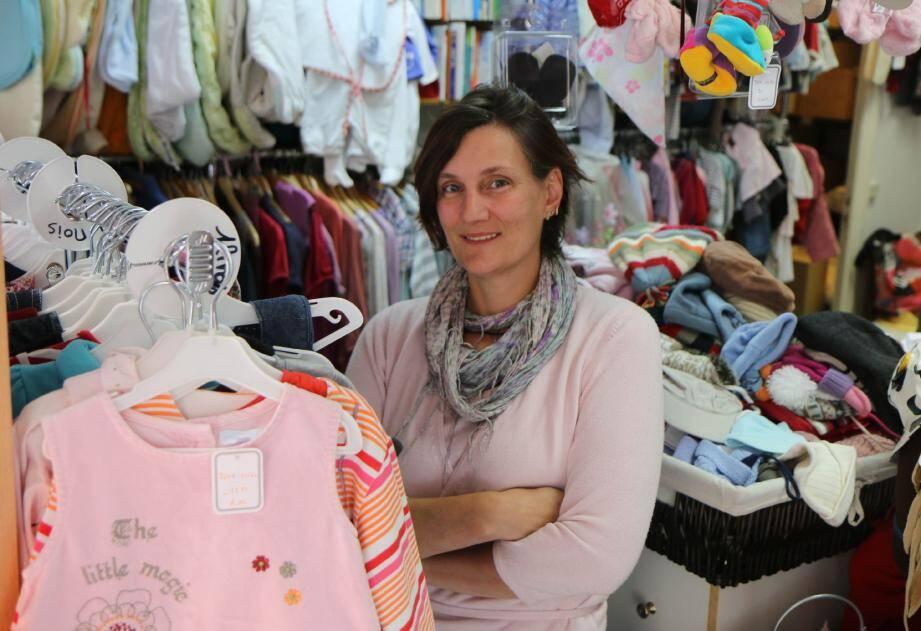 Marianne Saunier tient depuis deux ans les rênes de son dépôt-vente.