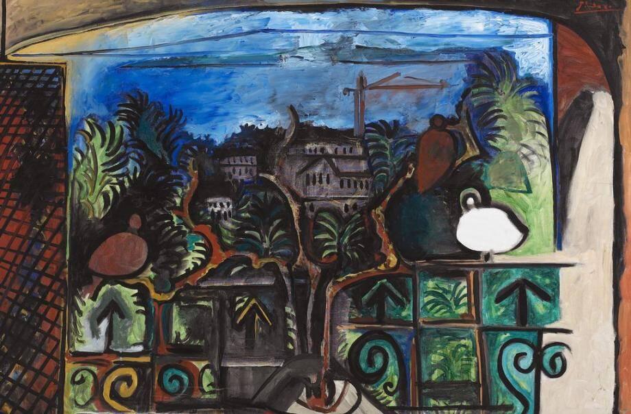 pablo picasso paysage de cannes au crepuscule huile sur toile 1960 141017