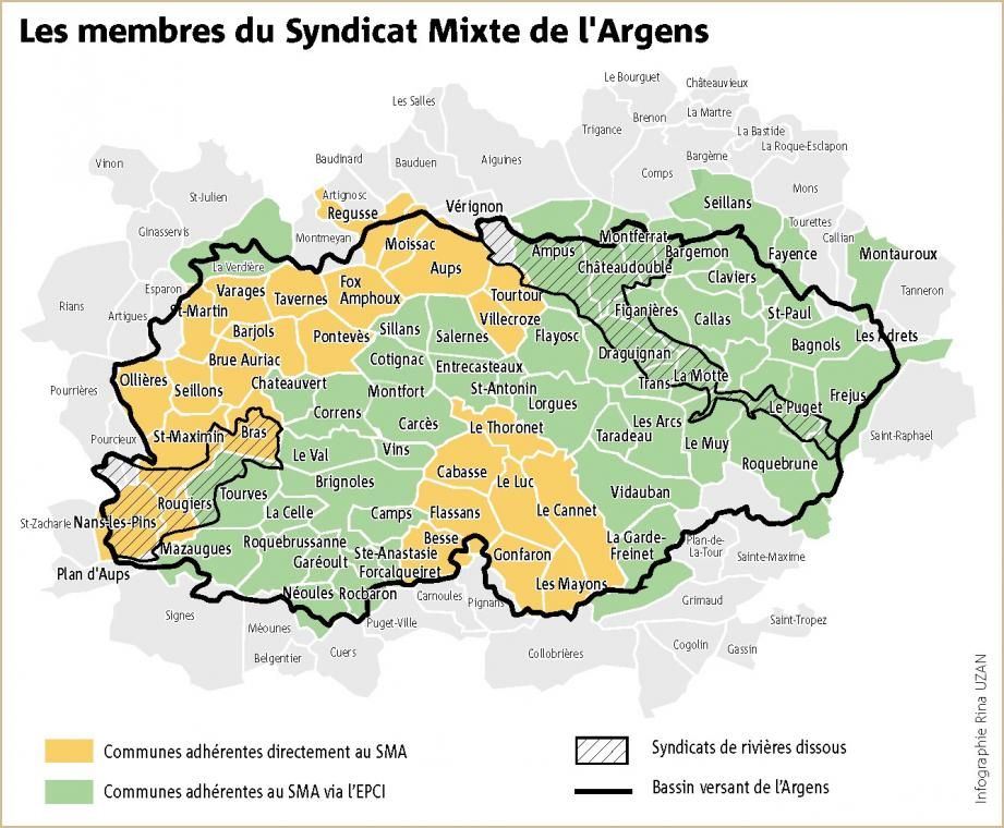 Le syndicat rassemble 74 communes.