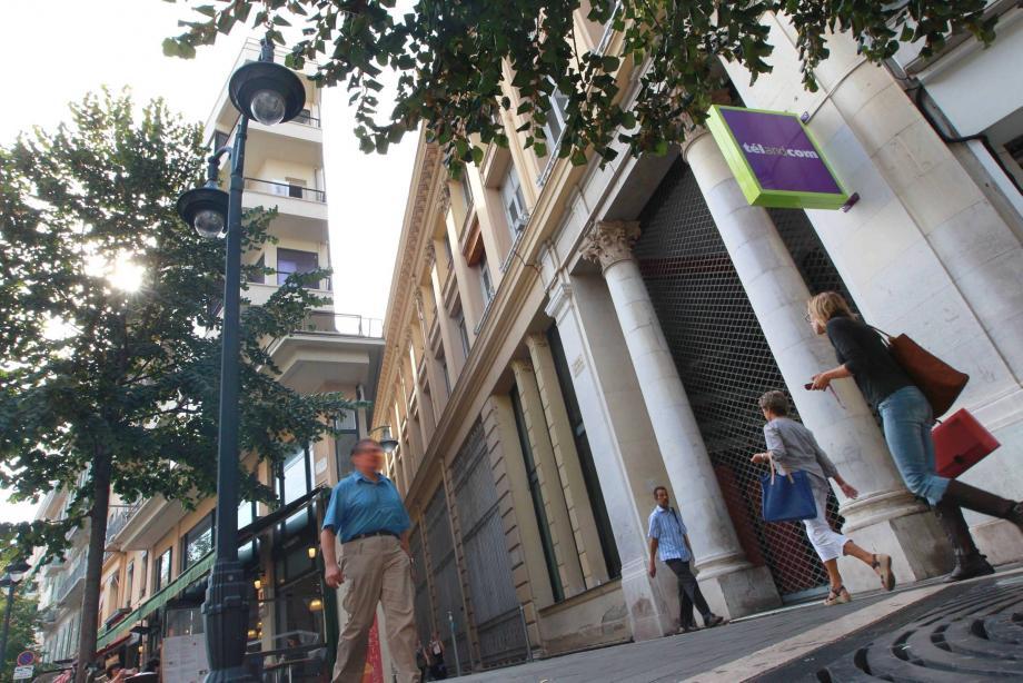 Les locaux de l'ancien Virgin Megastore à Nice.