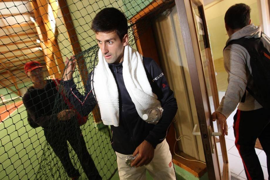 Le joueur a rejoint vers midi les courts couverts du centre-Rolland Garros de Saint-Raphaël.