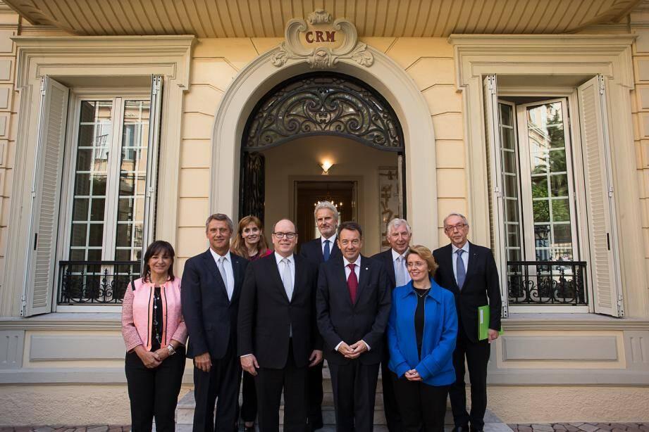 Le prince Albert II a reçu le président du Comité international de la Croix-Rouge.
