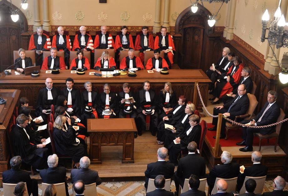 Le prince Albert II a assisté à la rentrée judiciaire.