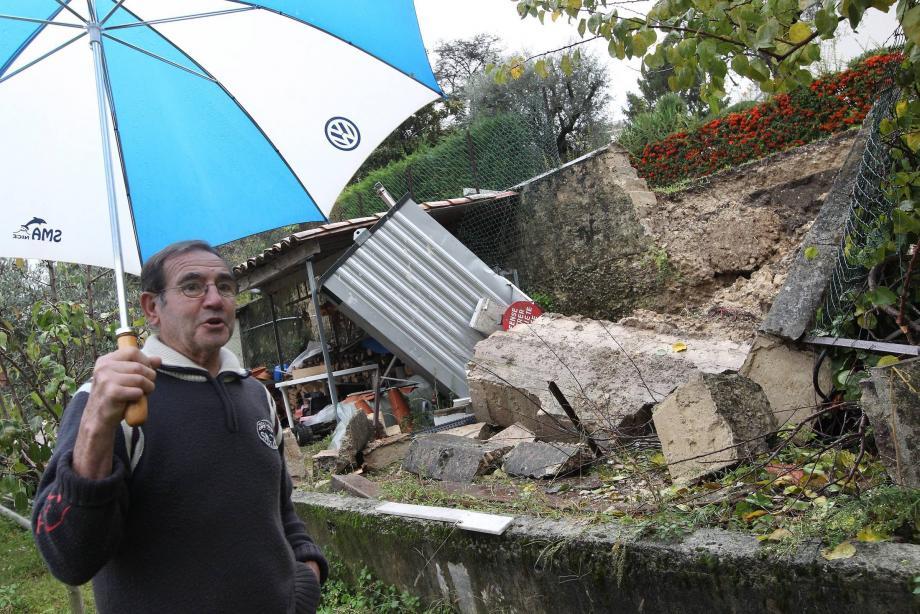Intempéries: encore quelques dégâts dans les collines niçoises