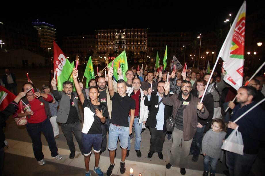 Dès 18 heures, les manifestants étaient sur la place de la Liberté à Toulon.
