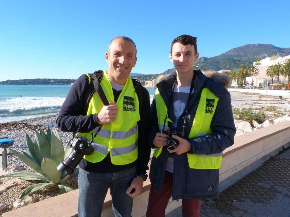 Marc et Loris Biancheri ont passé la journée à plancher autour des trois thèmes choisis par le jury du marathon photo.
