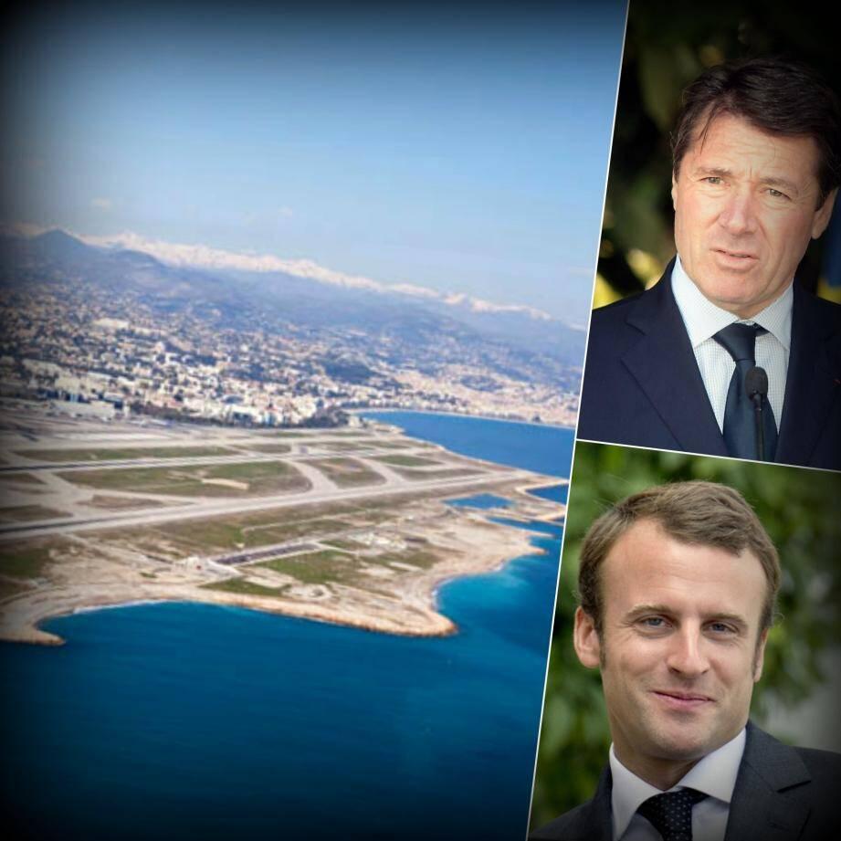 """Macron veut privatiser l'aéroport de Nice, Estrosi """"totalement"""" contre"""