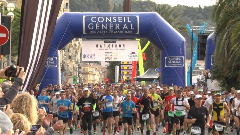 marathon alpes maritimes nice cannes cote d'azur depart 7e edition 141109