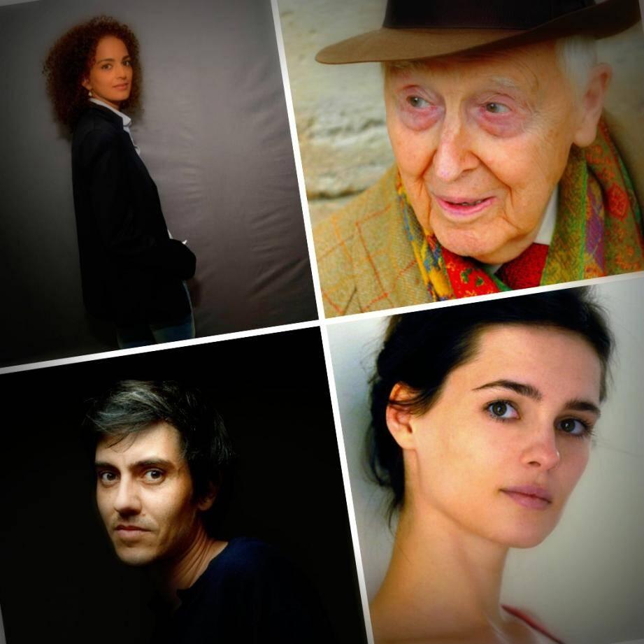 Leïla Slimani, Daniel Cordier  Caroline de Mulder et Sylvain Prud'homme invités de ces premières Rencontres Littéraires de Cannes.