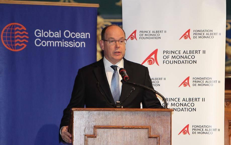 Le souverain a accueilli hier les membres de la commission au Musée océanographique, notamment José Maria Figueres, l'ancien président du Costa Rica.