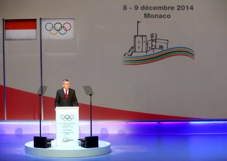 Le président Thomas Bach, a ouvert la 127e session du CIO. (Ph. J.-François Ottonello)