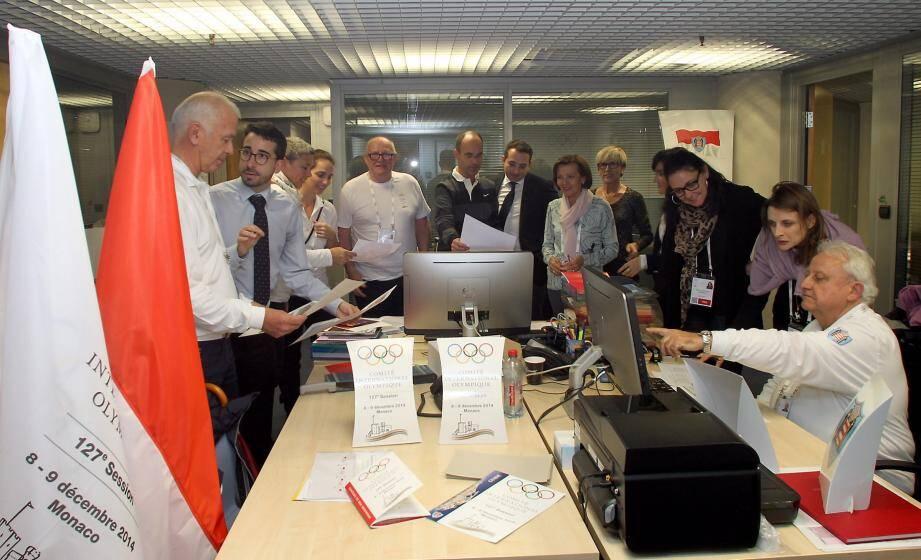 Les équipes du CIO en pleine préparation au Grimaldi Forum.