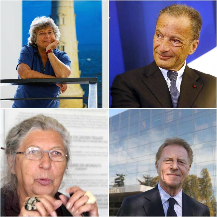 De gauche à droite et de bas en haut: Jacqueline Franjou, Henri Proglio, Marie-Claude Beaud et Robert Namias.