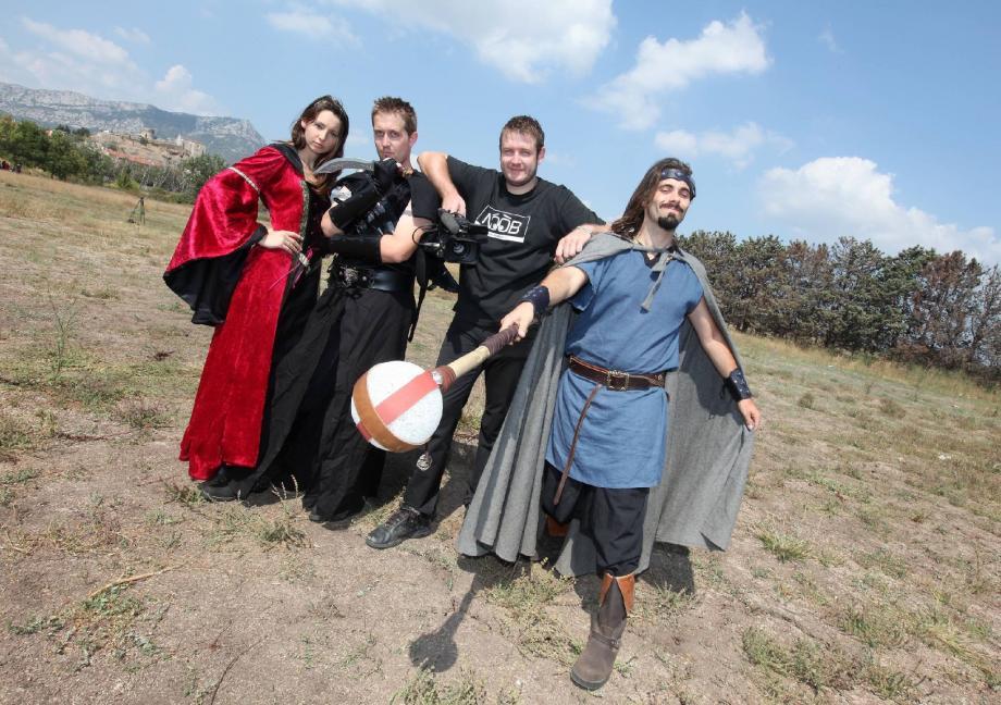 Anne-Laure, Julien, Fabien et Frédéric, dans les collines toulonnaises pour un tournage en 2009, à l'époque où, si le succès était au rendez-vous, les acolytes ignoraient à quel point leur réussite grandirait.